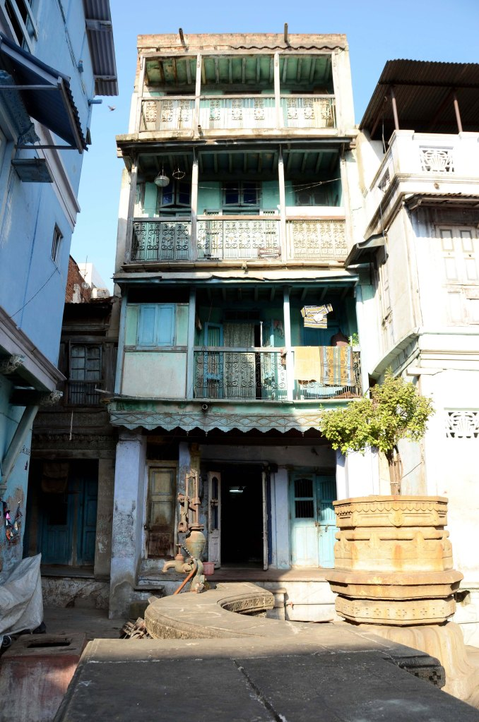 This house represents old ahmedabad architecture