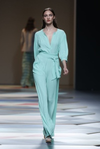 Pastel one color jumpsuits where seen in many designers collections