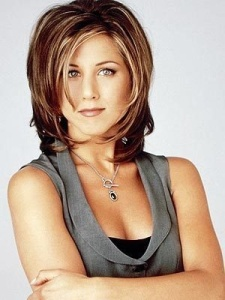 "Jennifer Aniston's layers in friends. This hair cut is know as "" the Rachel."""