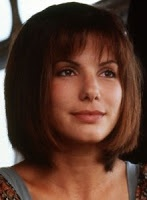 Sandra bullock's blunt cut with front bangs in speed