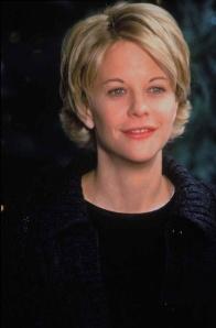 Meg rayan's blond shaggy hair cut in the late 90's