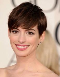 Anna Hathaway's short pixie cut
