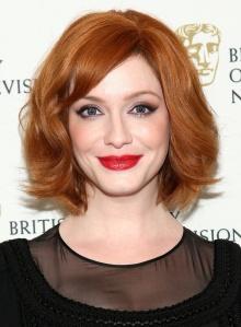Christiana Hendrics ginger hair color in Mad Men