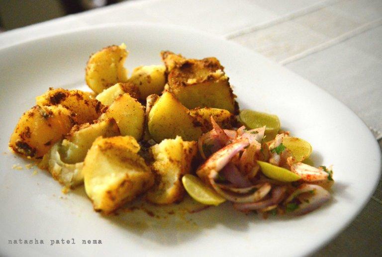 Tandori Aloo made in the oven
