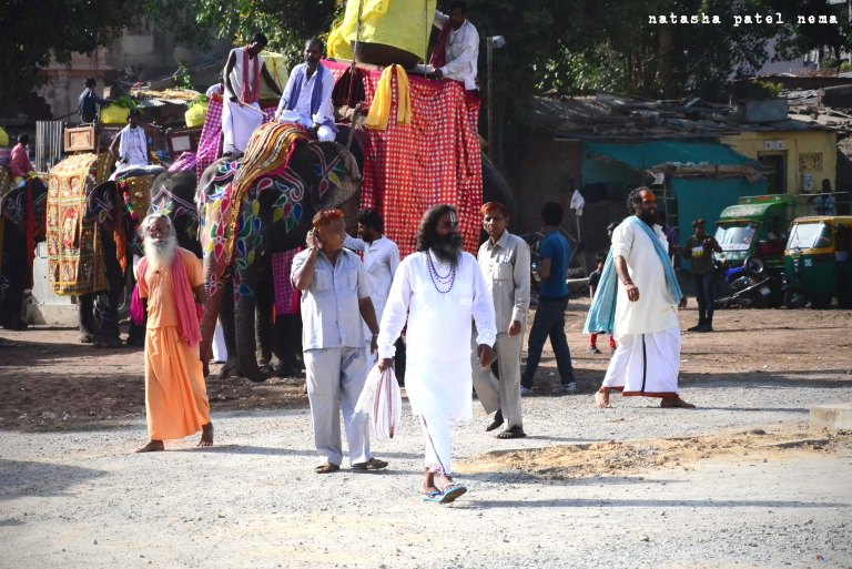they arrive for the pooja