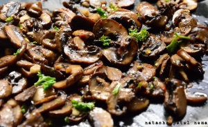 Mushrooms all ready for the sandwich